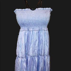 Light blue semi sheer summer dress